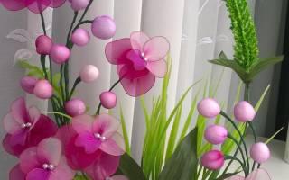 Видео цветы из капроновых колготок